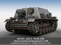 StuIG 33B - Self-propelled heavy Infantry Gun - 6 Armee 3D Model