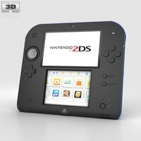 Nintendo 2DS Black + Blue 3D Model