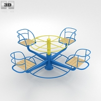 Playground Merry Go Round 002 3D Model