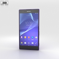 Sony Xperia T2 Ultra Purple 3D Model