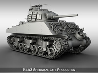 M4A3 Sherman - Pacific theater 3D Model