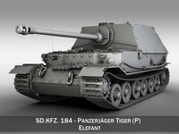 SD.KFZ 184 Panzerjaeger Tiger (P) - Elefant 3D Model