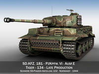 Panzer VI - Tiger - 134 - Late Production 3D Model