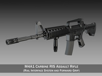 Colt M4A1 Carbine RIS - Assault rifle 3D Model