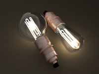 Eco-filament light bulbs combo 3D Model