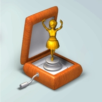 Ballerina music box rigged 3D Model