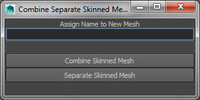 Combine Separate Skinned Meshes Tool 1.0.0 for Maya (maya script)