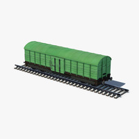 Box Car green 3D Model