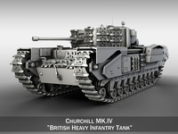 Churchill MK.IV 3D Model