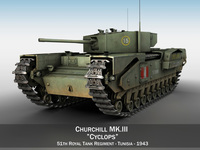 Churchill MK.III - Cyclops 3D Model