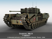 Churchill MK.IV - T68457 3D Model