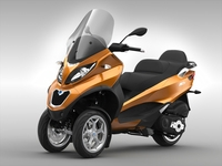 Piaggio MP3 Scooter (2016) 3D Model