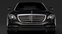 Mercedes Benz S 300 Bluetec Hybrid W222 2018 3D Model