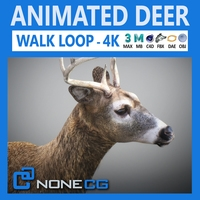 Animated Deer 3D Model