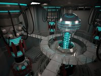 Scifi Base Reactor 3D Model