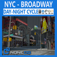 NYC Broadway 3D Model