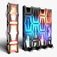 Stage Decor 36 Modular Wall Column 3D Model