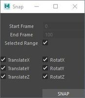 Snap Script 2.0.0 for Maya (maya script)