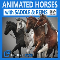 Animated Horses 3DS Max 3D Model