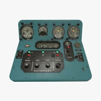 Mi-8MT Mi-17MT Central Panels Board English 3D Model