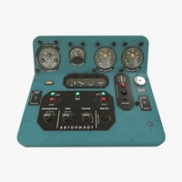 Mi-8MT Mi-17MT Central Panels Board Russian 3D Model