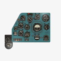 Mi-8MT Mi-17MT Left Panels Board Russian 3D Model