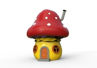 Cartoon house mushroom 3D Model