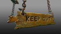 Keep Out Hanging Signs - Game Ready 3D Model